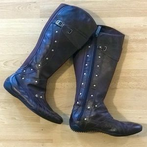 Puma Berlin Boots Brown Knee High Like New